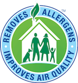 removes allergens and improves air quality badge