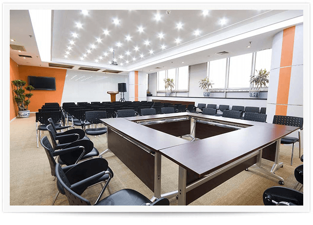 clean business office conference room