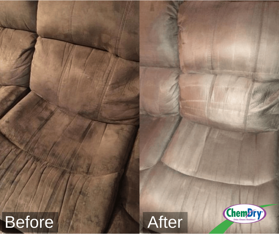 before and after upholstery cleaning in hickory