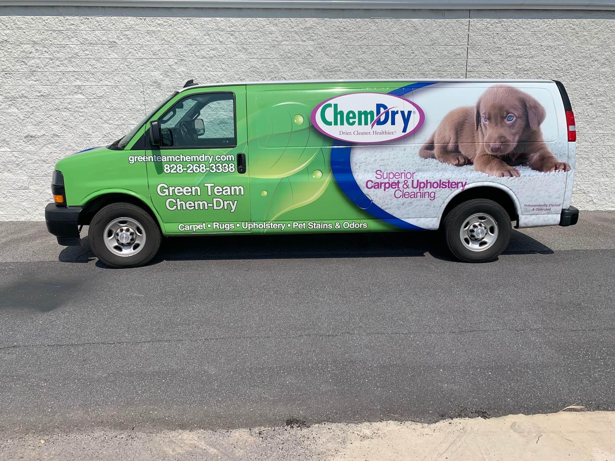 green team chem-dry carpet cleaning van