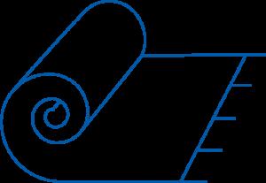 outline of blue rug